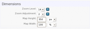 Basic Map Dimension Settings