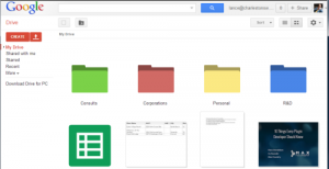google drive colored folders