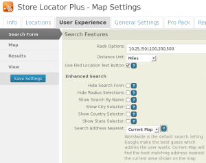 Enhanced Search 4 Search Influence Setting