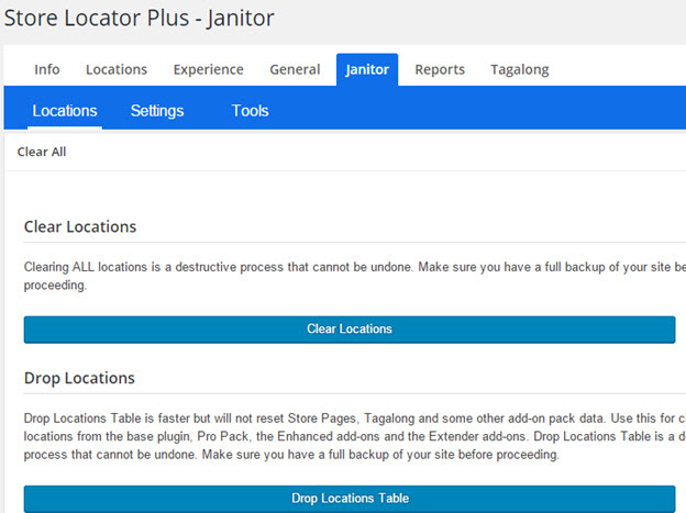 Janitor 4.4 Locations