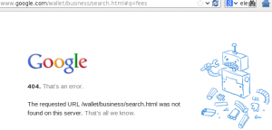 Google Wallet Search Fail