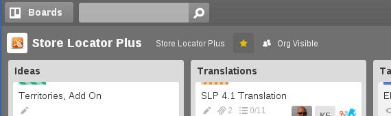 Store Locator Plus board on Trello