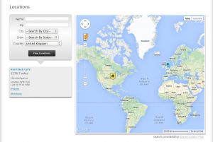 Discrete Country Search - No Address Redirect, USA Centric Map