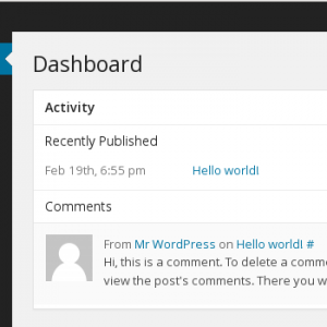 User WordPress Dashboard - No location management.