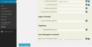 User Manage Locations  in Janitor 4.1.01