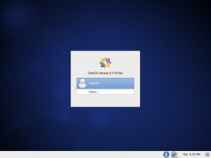 CentOS 6.5 Login Screen