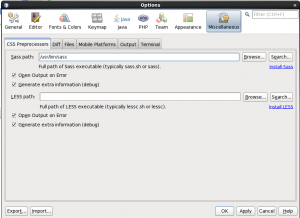 Configuring Sass in NetBeans