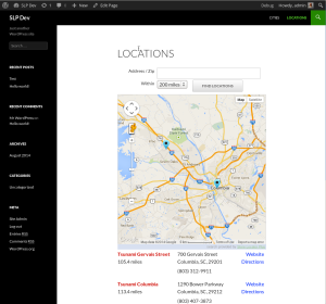 Directory Driven Locator Page