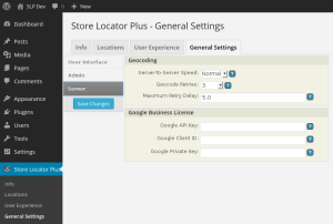 SLP 4.2.10 General Settings Server