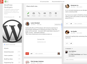 WordPress Developers on G+