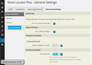 Directory Builder 4.2.09 General Settings