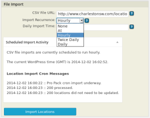 PRO 4.2.03 Scheduled Import