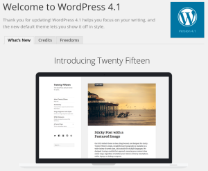 WordPress 4.1 About Screen