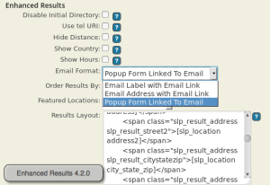ER 4.2.0 UX Results Features Email