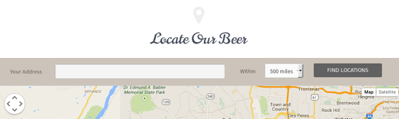 Locate Our Beer Banner