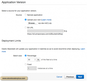 AWS ELB Application Version