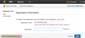 AWS ELB application info