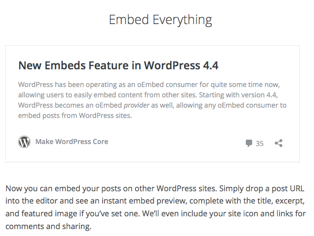 Embed WordPress In WordPress